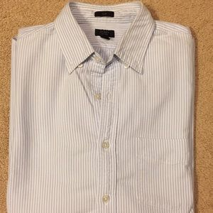 J Crew oxford shirt, slim, blue/white, sz M